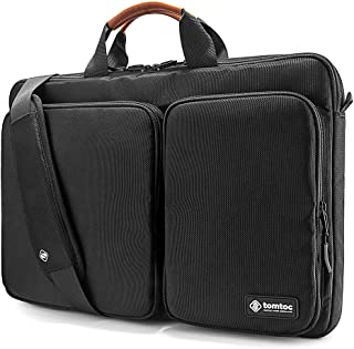tomtoc 360 Protective Laptop Shoulder Bag for The New Razer Blade Pro 17, HP Envy Laptop 17 Inch, DellInspiron 17 3000 Laptop, ASUS ROG Zephyrus S 17.3 Inch, Notebook Bag with Accessory Pocket