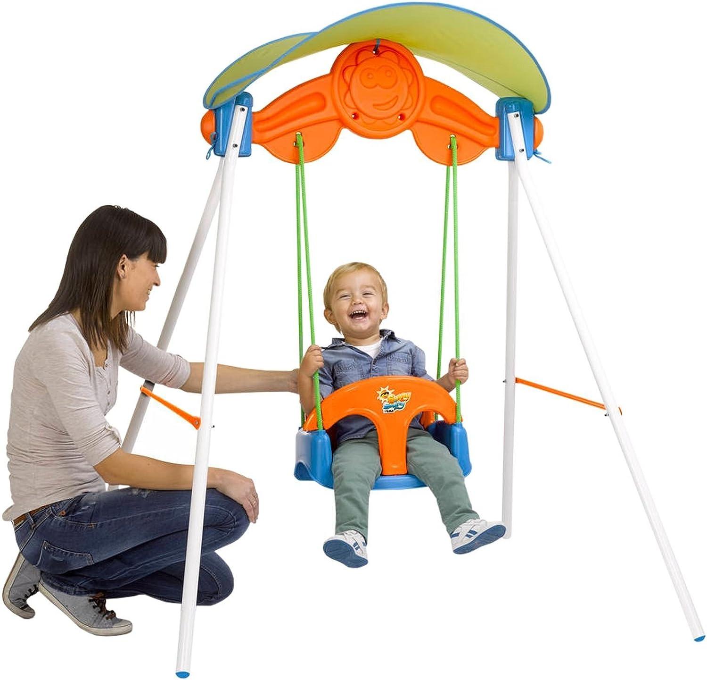 FEBER Famosa 80000900005  Sonnenschaukel  Gartenspiele Schaukel für Kinder von 1 bis 3 Jahren