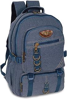 Mochila Escolar Masculina Reforçada De Lona Feminina Notebook 4 Cores (B Azul)