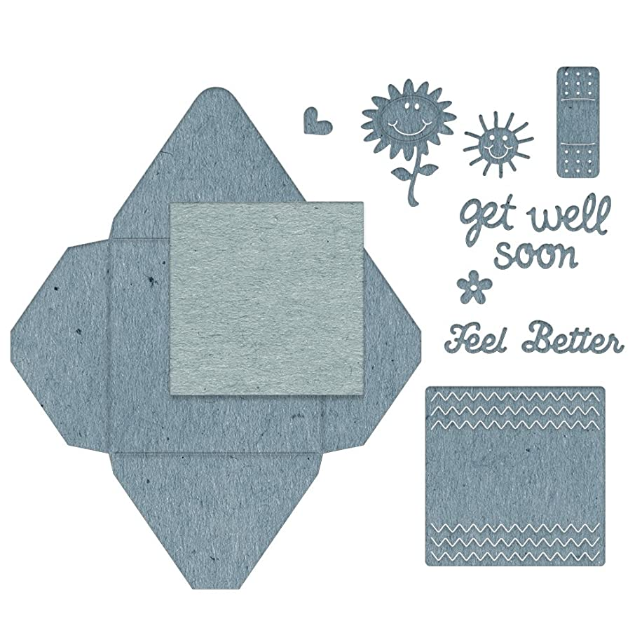 Cheery Lynn Designs B857 Get Well Gift Envelope 9 Piece Die Set