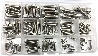 Dayuup 135pcs Metric M2.5 M3 M4 M5 M6 M8 304 Stainless Steel Hex Socket Head Cap Screws Assortment Kit