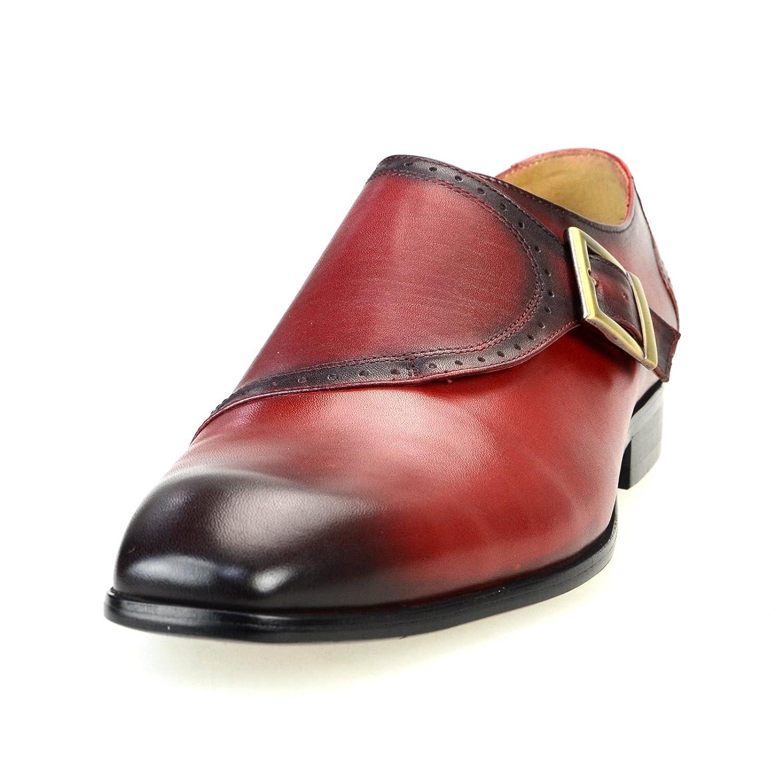 [ルシウス] 本革 20種類から選ぶ レザー メンズ ダブル モンクストラップ メダリオン ストレートチップ 革靴 紳士靴