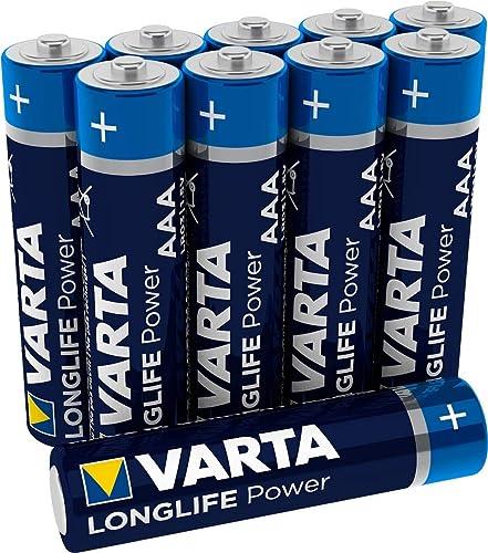 Varta Longlife Power Piles Alkaline, LR03, AAA Micro, 10 Pièces