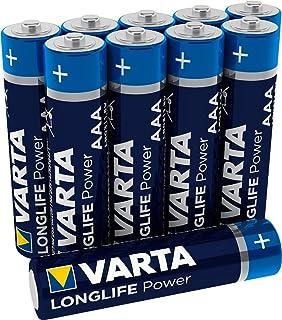 VARTA Longlife Power AAA Micro LR03 Batterij (verpakking met 10 stuks) Alkaline Batterij - Made in Germany - ideaal voor s...