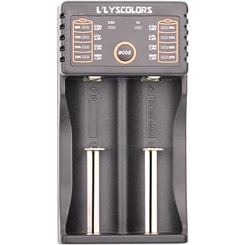 para bater/ía recargable Ni-MH 16340,14500 Ni-Cd AAA LLYSCOLORS LII202 Cargador USB de Pilas inteligente 26650 etc. SC AA A 18650