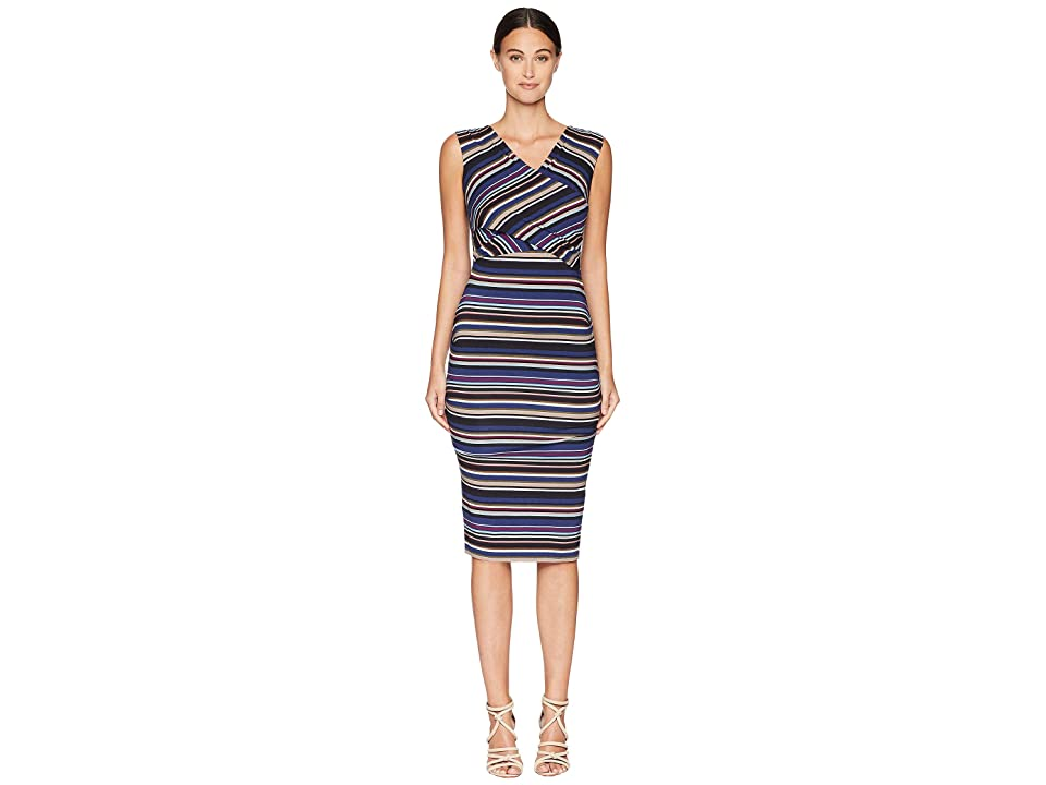 Nicole Miller Tuck Dress (Multicolored) Women