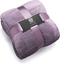 Kingole Flannel Fleece Microfiber Throw Blanket, Luxury Lavender Purple Twin Size Lightweight Cozy Couch Bed Super Soft and Warm Plush Solid Color 350GSM (66 x 90 inches)