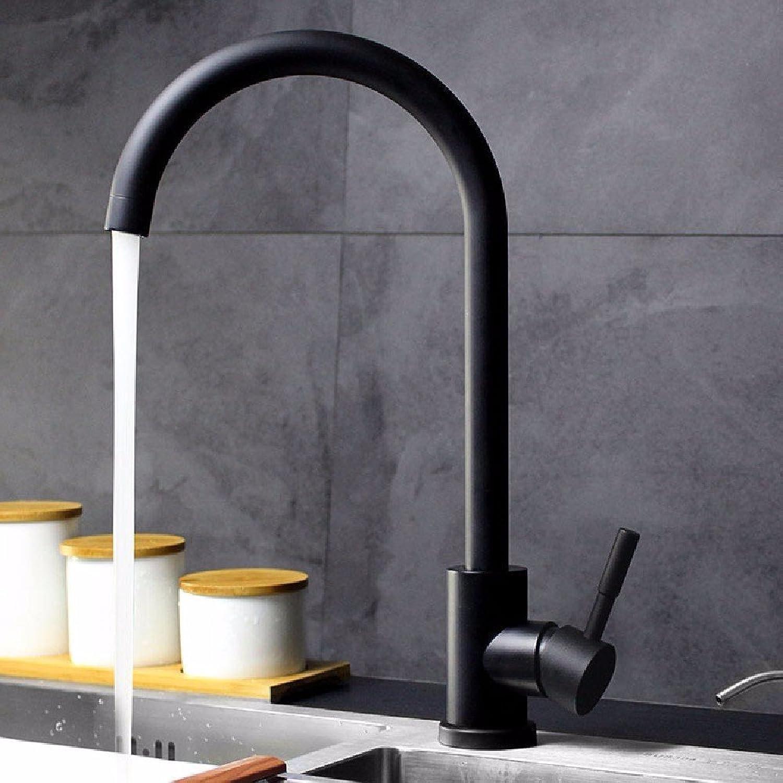 Bijjaladeva Wasserhahn Bad Wasserfall Mischbatterie Waschbecken Waschtisch Armatur für BadEdelstahl Küchenarmatur heie und Kalte Gerichte von der rotierenden Waschbecken Schwarz