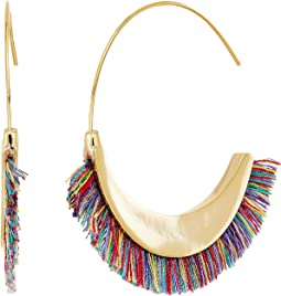 Rebecca Minkoff - Thread Fringe Large Hoop Earrings