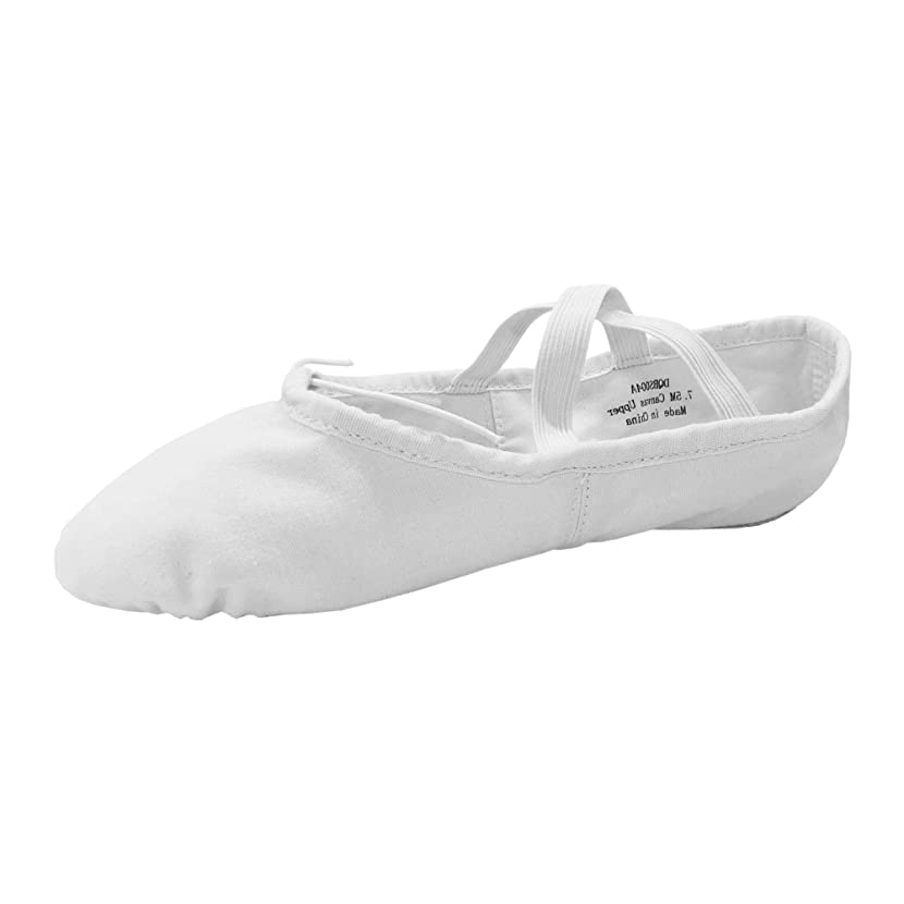 Danzcue Adult Split Sole Canvas Ballet Slipper