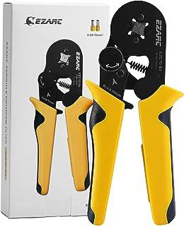 EZARC Ferrule Crimping Tool, Quick-Switch Crimper Plier for AWG 23-7 (0.08-10mm²) End-Sleeves Ferrule (Single)