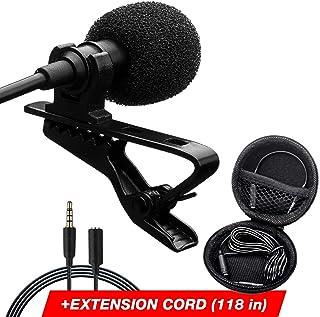 Professional Lavalier Lapel Microphone - Long Cord Lapel...
