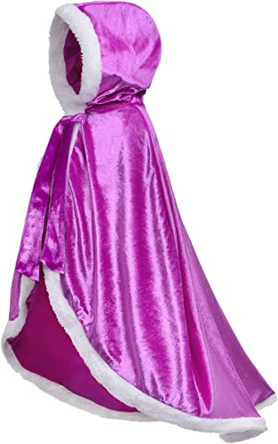 Party Chili Fur Princess Hooded Cape Cloaks Costume for Girls Dress Up 2-12 Years product image