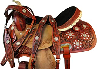 16 15 Barrel Racing Pleasure Show Rough Out Leather Trail Horse Western Saddle