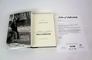 Bruce Springsteen The Boss Signed Autograph Born To Run Book PSA/DNA COA