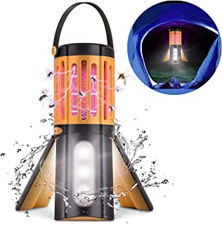COKIT LED Camping Lantern Bug Zapper 2 in 1,Tripod Tent Light with Hook Portable Indoor Outdoor Mosquito Killer Fly Zappers Waterproof Compact UV Insect Trap Lamp