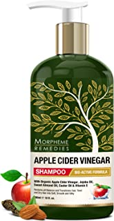 Morpheme Remedies Apple Cider Vinegar Shampoo, 300ml - Transforms Dull, Tired & Dry Hair into Soft, Smooth & Silky - With Apple Cider Vinegar