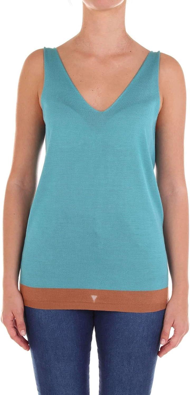 Jucca Women's J2511001693 Light bluee Cotton Tank Top