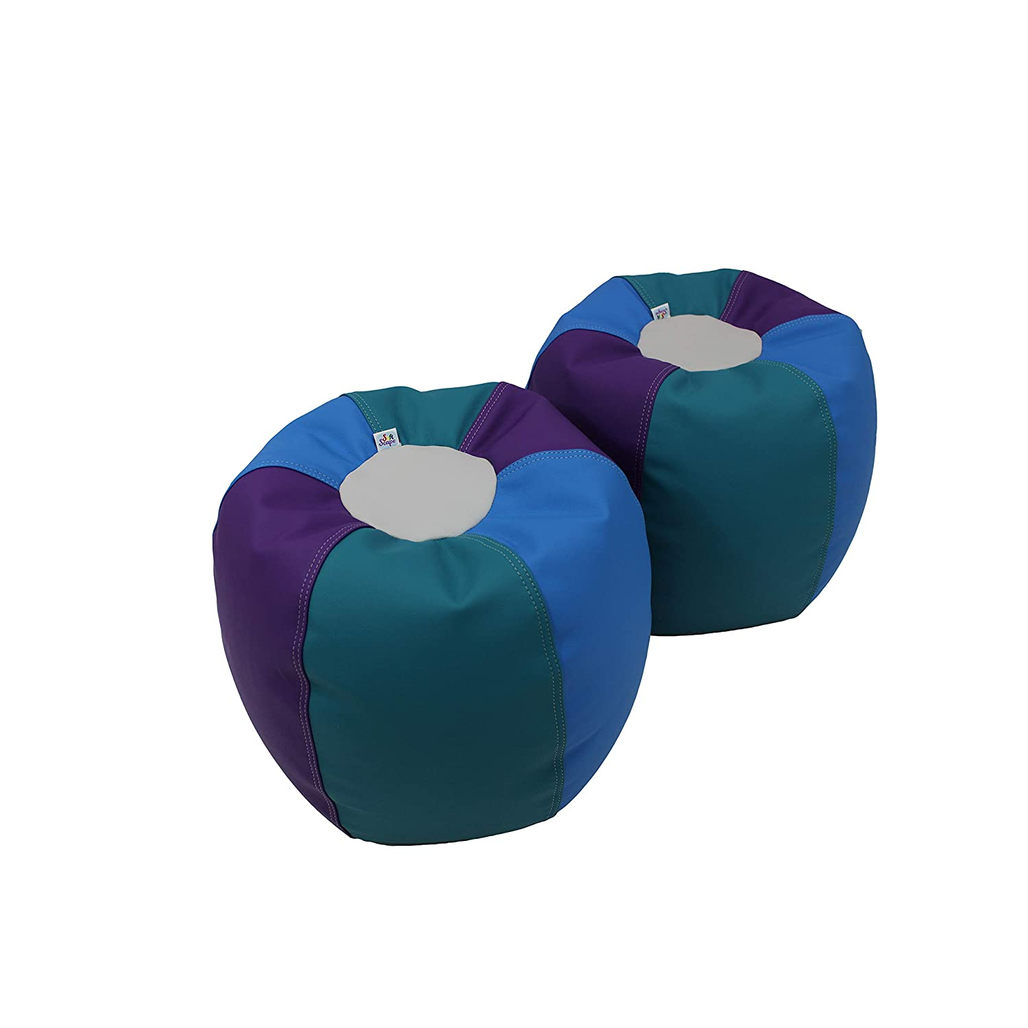 FDP SoftScape 12 inch Long-awaited Puffs Bean for Kids Opening large release sale Seating Set Colorful