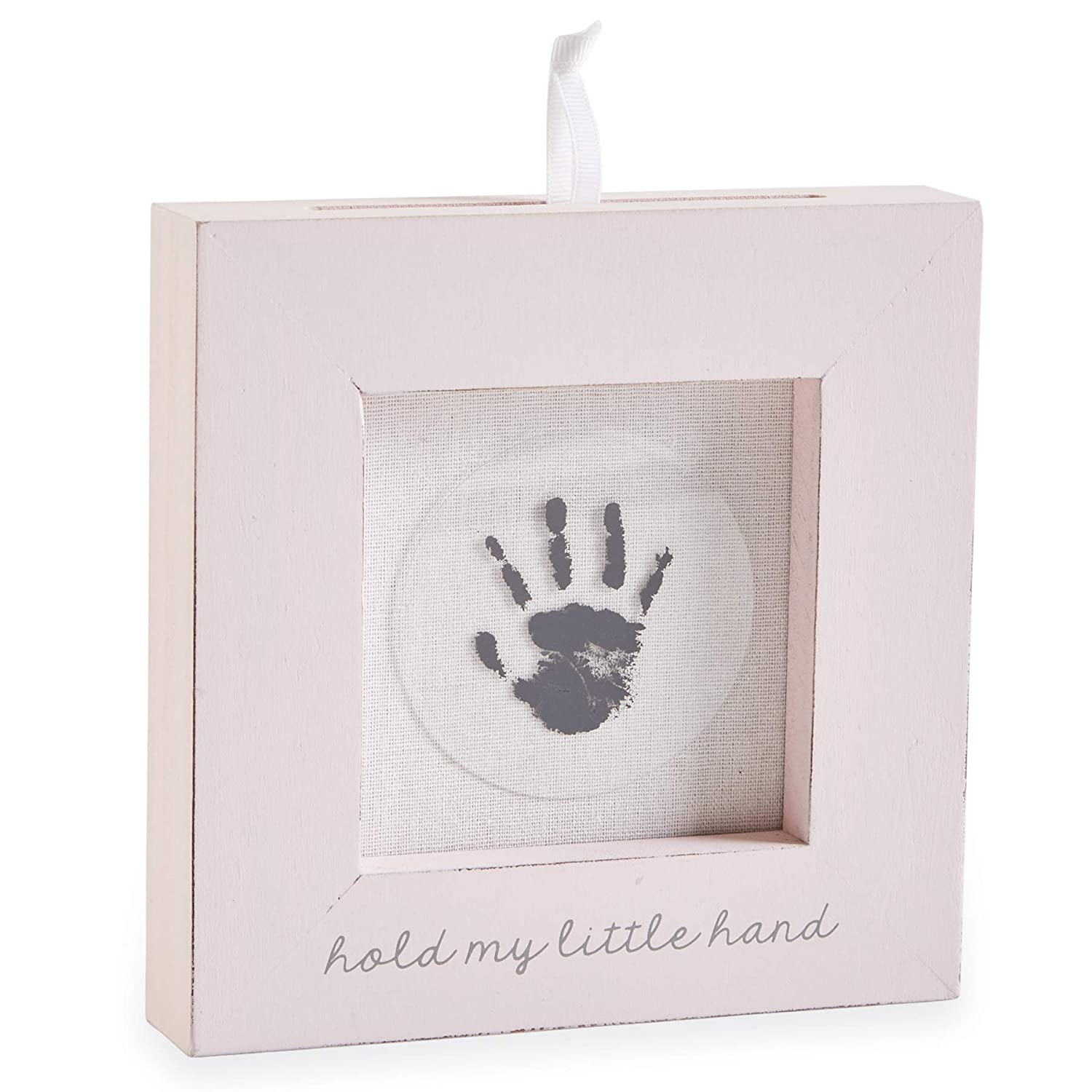 Mud Pie Pink Hand and Foot Print Frame, 6.50