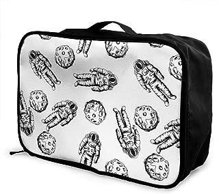 ADGAI Grunge Style Hand Drawn Canvas Travel Weekender Bag,Fashion Custom Lightweight Large Capacity Portable Luggage Bag,Suitcase Trolley Bag