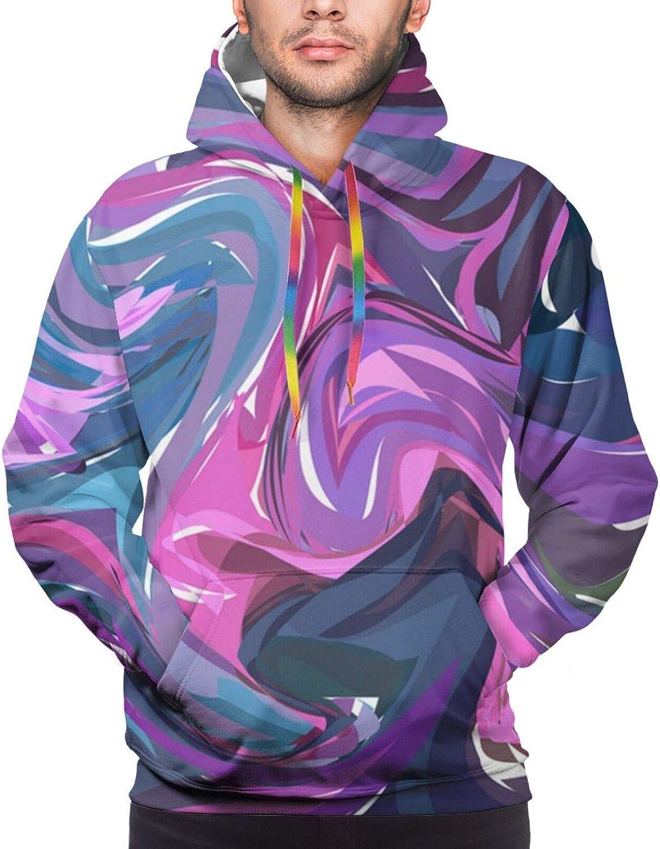 Boston Mall Purple pink hand drawn artwork Unisex Realistic Digita 3D Max 53% OFF Cotton