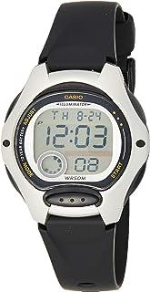 ساعة يد بمينا بلون اخضر وسوار من السيليكون للنساء من كاسيو، موديل LW-200-1AVDF