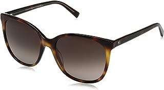 Tommy Hilfiger Th1448s - anteojos de sol para mujer, cuadradas, color amarillo y café (56 mm)