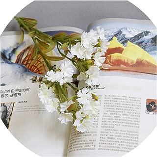 Artificial Flower Carnation Wildflower Fake Flower Silk Flower Wholesale Home Office Decor Flower Wall Arrangement Mother Gift,White