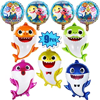 9 Pcs Baby Shark Party Helium Balloons - 26