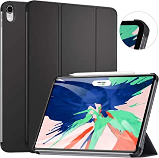 Ztotop Case for iPad Pro 11 Inch 2018, Ultra Slim Minimalist Trifold Stand Smart Case with Auto Sleep/Wake, Protective Back Cover Support 2nd Gen iPad Pencil Charging for iPad Pro 11 Inch,Black
