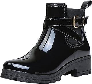 Botas de Agua Bota de Goma Mujer Impermeable lluvia Zapatos