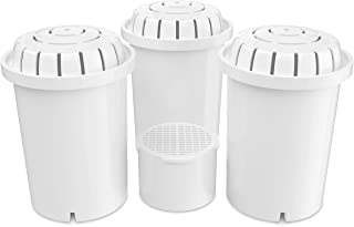 Invigorated Water PH001 3-Pack Alkaline Water Filter – Plus PH002 UF Membrane Filter - Value Bundle Compatible with pH Recharge, pH Restore & pH Refresh