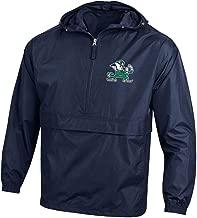 Champion NCAA Mens NCAA Men's Half Zip Packable Hooded Wind Jacket