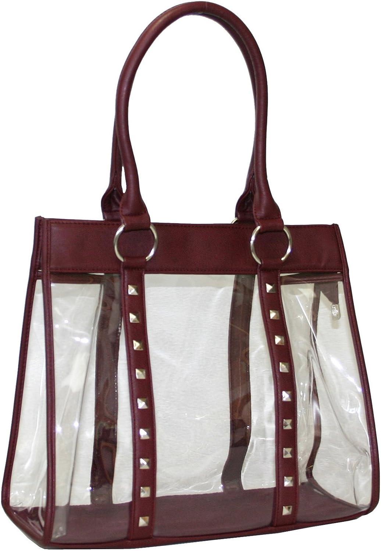 Women Clear Bag Transparent Tote Purse