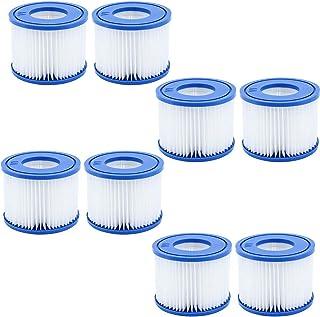 GAODA VI - Cartucho de filtro para piscina Bestway Flowclear Pool Filter, Filtro de repuesto para Lay-Z-Spa Miami, Vegas, Monaco, tamaño 6-58323 (8 unidades)