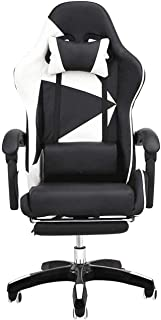 ZHENG Silla Escritorio Silla Gaming Juegos for sillas de Internet Cafe Asiento Deportivo for sillas de Inicio Lazy Silla reclinable Oficina (Color : Negro)