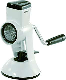 GEFU Almond and Parmesan Mill, With Suction Foot and Screw Clamp, Stainless Steel and Plastic