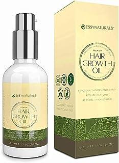 روغن رشد مو EssyNaturals با کافئین و بیوتین - برای موهای قوی تر ، ضخیم تر ، بلندتر ، 1.7 اونس (1 بسته)