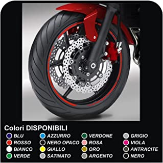8715a7f1 Pegatinas Llantas motos ruedas adhesivos tiras pegatinas llantas Moto GP  estilo pegatinas para motos llantas (