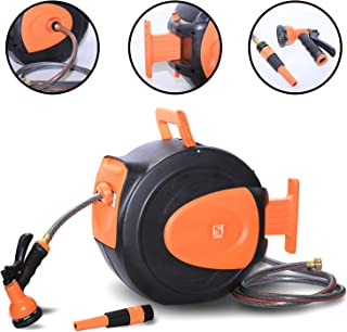manual garden hose reel