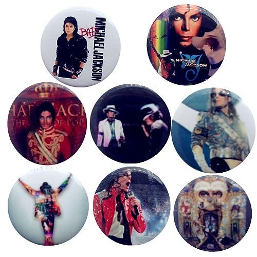 Michael Jackson 1 4 Badge Button Pin Pinback Set 8 Pcs