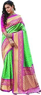 بلوزة ساري حريرية ناعمة من طراز هندي أخضر للسيدات من بوليوود التقليدي 5744