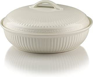 Mikasa Italian Countryside Oval Casserole Dish with Lid, 1.5-Quart