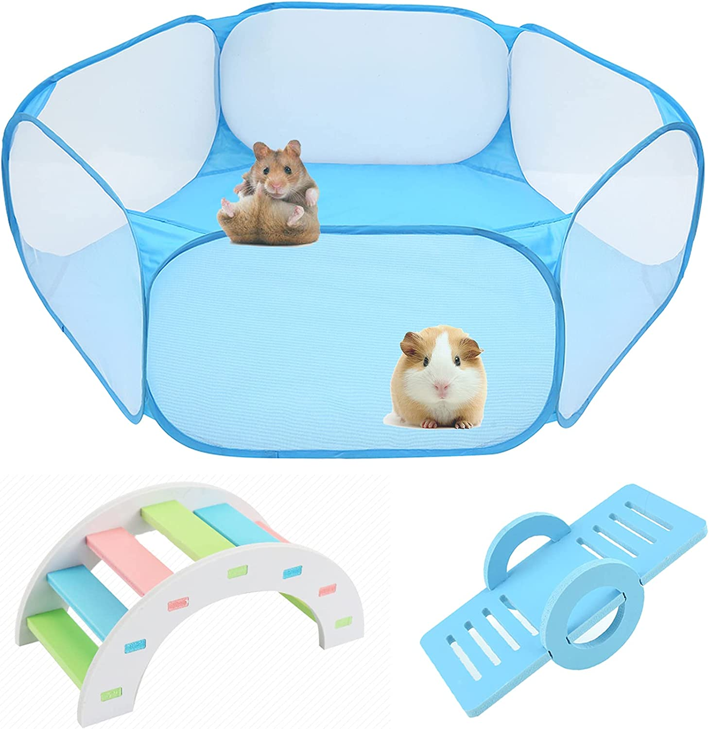 Hamster Foldable Exercise Playpen Transparent Kansas Fresno Mall City Mall Breathable Pe and