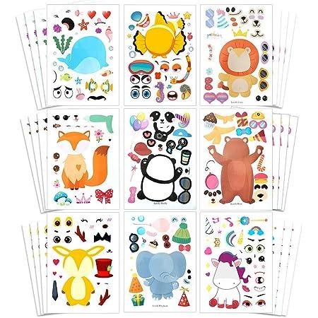 Sticker Arc Autocollant Set 20x animaux pour enfants pour rendre école anniversaire