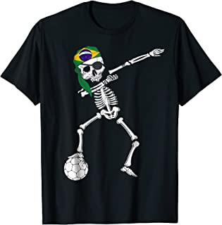 Skull Brazil Pirate Patriotic Brazilian Soccer Jersey Shirt