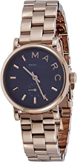 Marc by Marc Jacobs Women's Navy Blue Dial Stainless Steel Band Watch - MBM3332