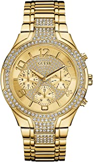 GUESS Gold-Tone Glitzy Sport Dress Watch
