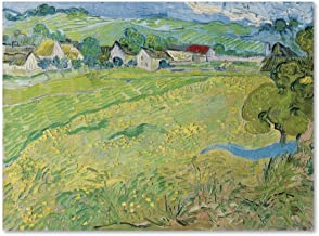 Les Vessenots Au Auvers by Van Gogh, 14x19-Inch Canvas Wall Art